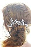 Missgrace Bridal Vintage Crystal Hair Pins Wedding Hair Jewelry Women Hair Accessories (Pack of 2)