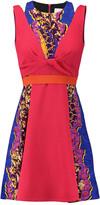 Peter Pilotto Tandem printed wool-blend crepe mini dress