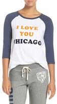 Junk Food Clothing Women's 'Chicago Bears' Raglan Cotton Tee