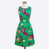 J.Crew Factory Printed pleated shift dress