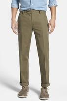 Bonobos Green Woven Regular Fit Single-Pleated Trouser - 30-34 Inseam