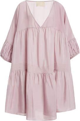 Anaak Airi Tiered Silk-Georgette Mini Dress