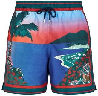 Derek Rose Tropical Print Swim Shorts