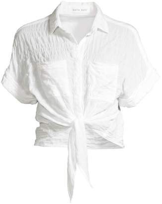 Bella Dahl Cap-Sleeve Tie-Up Shirt