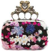 Alexander McQueen Flocked Floral Hearth Box Clutch Bag
