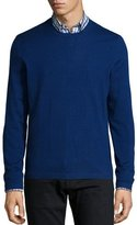Neiman Marcus Superfine Cashmere Crewneck Sweater, Dark Blue