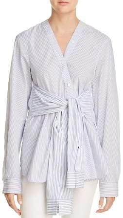 Alexander Wang Tie-Waist Striped Shirt