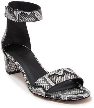 Vince Rita Snake Embossed Leather Sandal