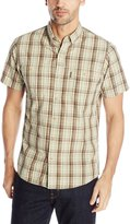 G.H. Bass Men's Short Sleeve Rock River Textured Plaid Shirt