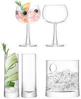 LSA International Gin Glasses and Ice Bucket Gift Set, Clear, 5 Pieces