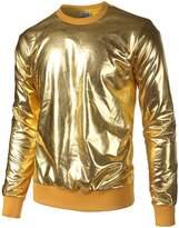 JOGAL Metallic Shirts Nightclub Styles Hoodies