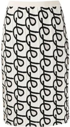 Christian Wijnants Khira patterned knit skirt