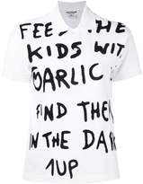 Junya Watanabe short sleeve slogan polo shirt