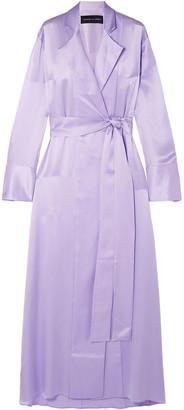 Michael Lo Sordo Double-breasted Silk-satin Maxi Dress