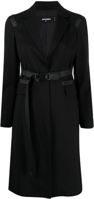 DSQUARED2 Single-Breasted Belted Wool Coat