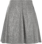 River Island Womens Grey melange flippy mini skirt