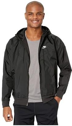 Nike NSW Windrunner Hoodie Jacket (Black/Black/Black/Sail) Men's Coat