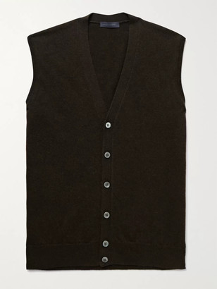 Thom Sweeney - Merino Wool and Cashmere-Blend Sweater Vest - Men - Brown
