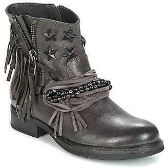 Elue par nous BEMPOUCH women's Mid Boots in Grey