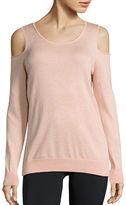 Calvin Klein Long Sleeved Cold-Shoulder Sweater