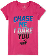 Puma Short-Sleeve Chase Me Tee - Preschool Girls 4-6x