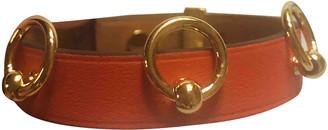 Hermã ̈S HermAs Mini Dog Orange Leather Bracelets