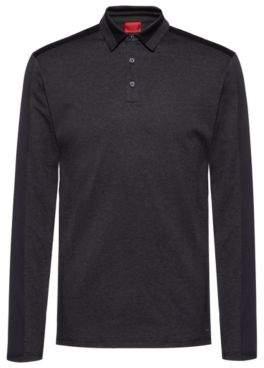 HUGO Slim-fit polo shirt in lightweight mercerised cotton