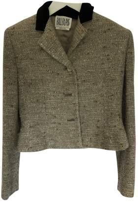 Bill Blass Beige Tweed Jacket for Women
