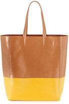 Neiman Marcus Colorblock Tote Bag, Yellow
