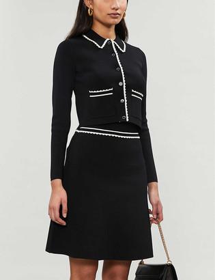 Sandro Anna knitted mini-skirt