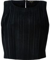 River Island Womens Navy sleeveless velvet crop top