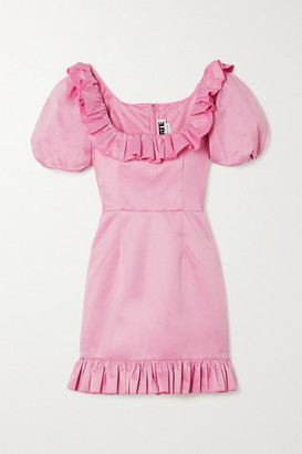 Rotate by Birger Christensen Ghita Ruffled Duchesse-satin Mini Dress - Pink