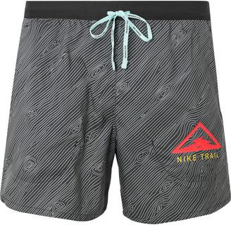 Nike Running Flex Stride Logo-Print Ripstop-Panelled Dri-Fit Running Shorts