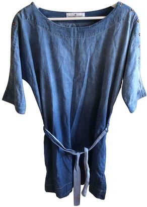 Designers Remix Blue Cotton Dress for Women