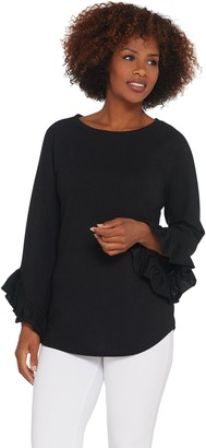 Belle By Kim Gravel Belle by Kim Gravel Ruffle Drama Sleeve Top