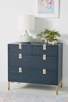 Anthropologie Ingram Four-Drawer Dresser By in Blue