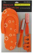Ongles d'Or Orange Manicure and Pedicure Set MPES-02