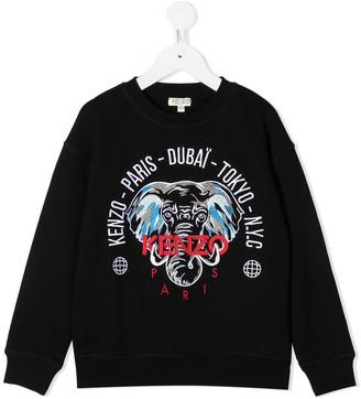 Kenzo Kids Elephant-Print Sweatshirt