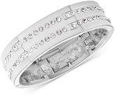 T Tahari Silver-Tone Pavé Stretch Bracelet