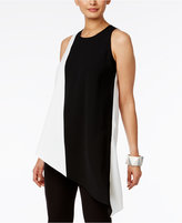 Alfani Colorblocked Asymmetrical Tunic, Only at Macy's