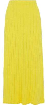 Jil Sander Ribbed Cotton-blend Terry Midi Skirt