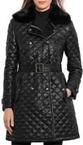 Lauren Ralph Lauren Belted Double-Breasted Quilted Jacket - 100% Exclusive