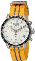 Tissot Men's 'Quickster' Swiss Quartz Stainless Steel and Nylon Automatic Watch, Color:Yellow (Model: T0954171703705)