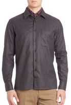 Luciano Barbera Flannel Cashmere & Cotton Shirt
