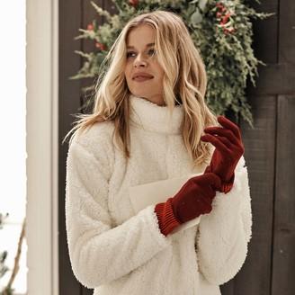 Summersalt The Coziest Cashmere Blend Gloves - Pinot & Lava