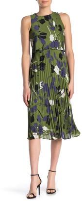 Taylor Floral Print Chiffon Popover Dress