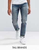 Jack and Jones Tall Intelligence Jeans In Tapered Fit
