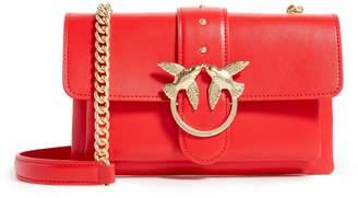 Pinko Mini Leather Love Soft Shoulder Bag