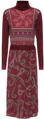 Etro Paisley wool-blend midi dress