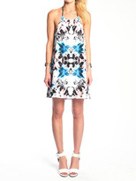 Donna Mizani Halter Mini Dress Iris